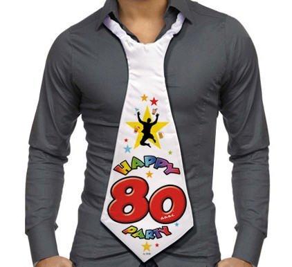 Cravatta CRAVATTONE Party - Buon COMPLEANNO 80 Anni per festa di compleanno del neo ottantenne