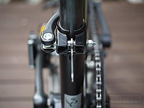 Dino Kiddo H&H - Bicicleta Plegable de Titanio, Peso Ligero, Marco Trasero, Brompton: Amazon.es: Deportes y aire libre