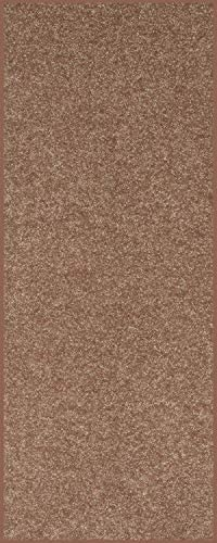 Home Queen Solid Color Custom Size Runner Area Rug Brown, 4 x 26