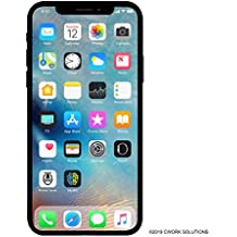 Apple iPhone X, 64GB, Silver - Fully Unlocked (Renewed)
