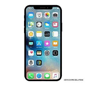 Apple iPhone X, 64GB, Silver – Fully Unlocked (Renewed)