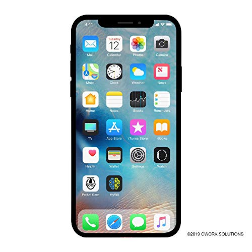 Apple iPhone X, 64GB, Silver – For AT&T (Renewed)