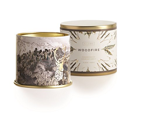 Illume Holiday Large Tin: Woodfire