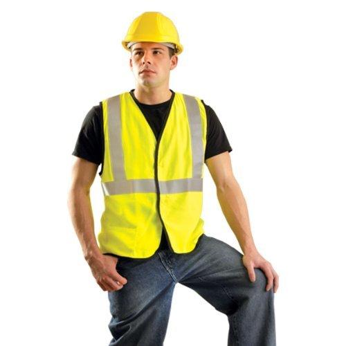 Price comparison product image Occunomix LUX-SSG / FR-OL Class 2 Premium Flame Resistant Single Stripe Solid Vest,  HRC 1 Protection,  Large,  Orange