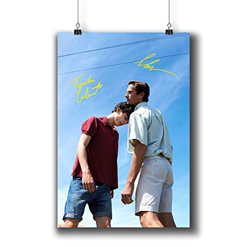 Pentagonwork Call Me by Your Name (2017) Movie Poster Photo Prints 1222-003 Cast Reprint Signed Armie Hammer Timothée Chalamet,Gift Wall Art Decor (A3|11x17inch|29x42cm)