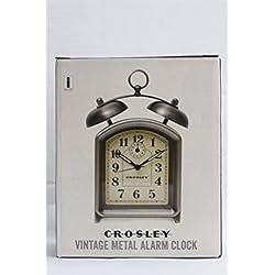 Crosley 33324 Vintage Metal Alarm Clock