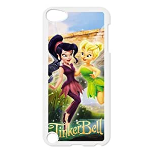 The Pirate Fairy Cute Cartoon Tinker Bell Fairy Design Snap-on Hard Plastic Protective Durable Back Case Cover Shell for iPod Touch 5th-4