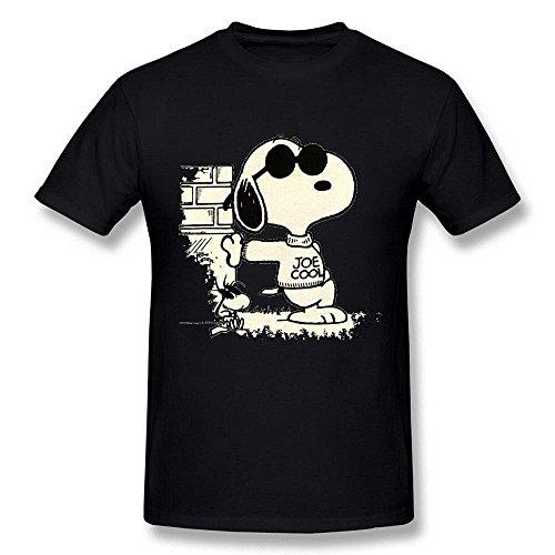 Men's Joe Cool Dog Black T Shirt by (Cool Halloween Poster Ideas)
