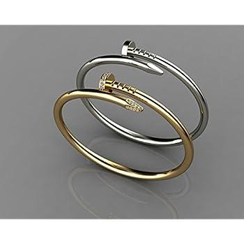 Amazon.com : Cartier Replica 18K Yellow & White Gold