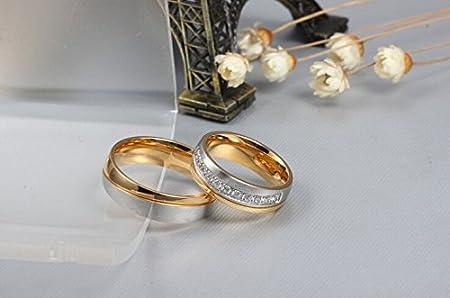 Amazon.com: Los Nuevos Anillos Amante Oro Titanio Anillos De Compromiso Anillos De Boda Al Por Mayor De Cr-034 (female, 7): Home & Kitchen