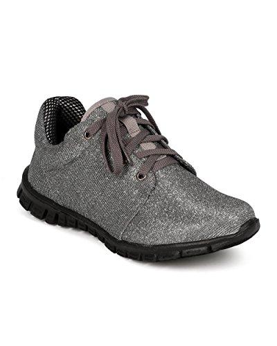 Natur Bris Cf72 Kvinner Glitter Shimmer Snøring Lett Kryss Trening Sneaker - Tinn Glitter Tinn Glitter