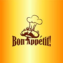 Bon Appetite Picture Art - Peel & Stick Vinyl Wall Decal Sticker Size : 15 Inches X 20 Inches - 22 Colors Available