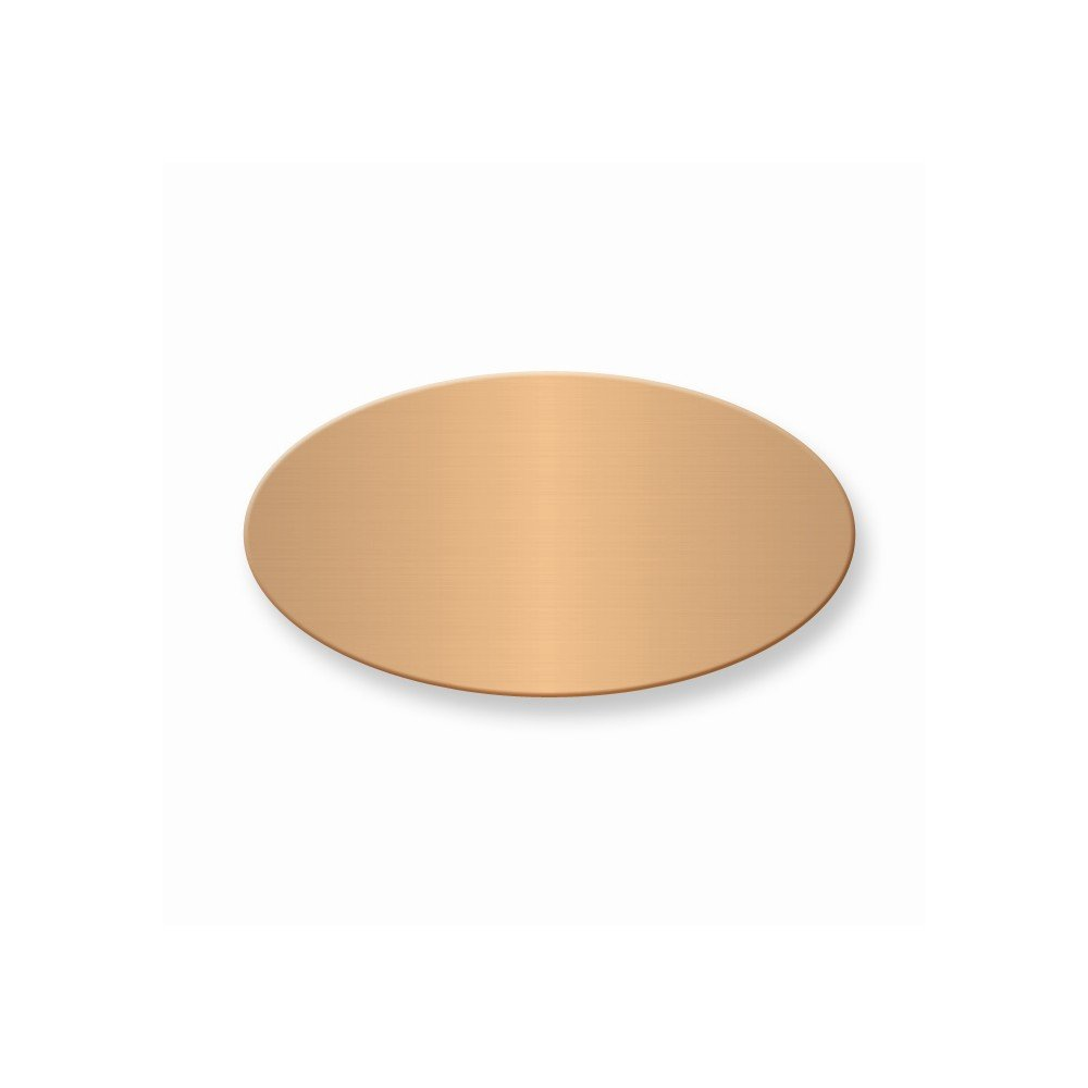 1 x 1 7/8 Oval Copper Alum Plates-Sets of 6
