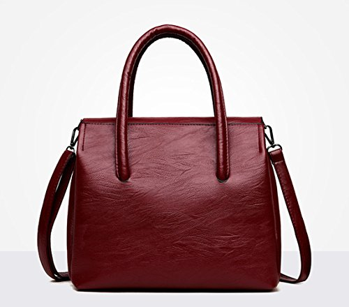 Bags Bags Burgundy Body Shoulder Top Faux Handle Handbags Cross Leather Women's Bags SUwqExvE