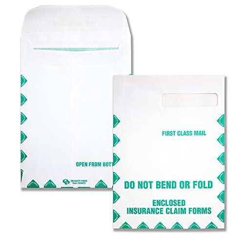 Claim Form Window Envelopes - Quality Park, HCFS-1508 Window Envelopes, Redi-Seal, First Class, White, 100 per Box,(54692)