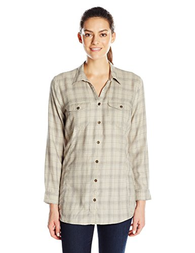 Royal Robbins Women's Beechwood Wool Blend Long Sleeve Shirt,SANDSTONE ,X-Small