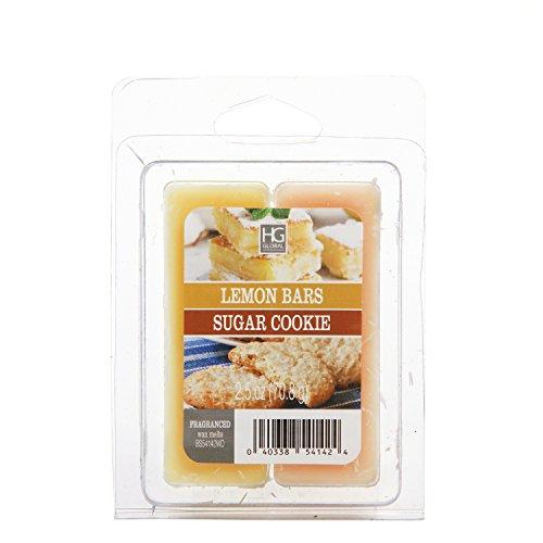 Hosley Set of 6 Dual Pack Lemon Bars/Sugar Cookie Wax Cubes-