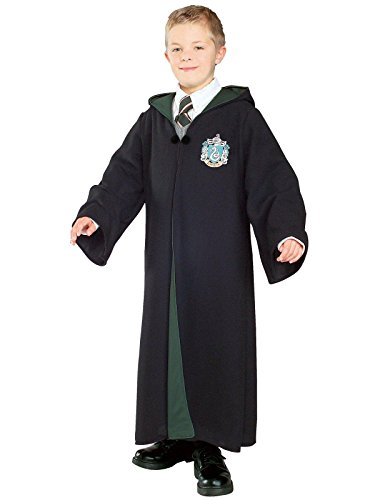 Rubies Costume Co Harry Potter Deluxe Slytherin Robe Child Costume, Large -