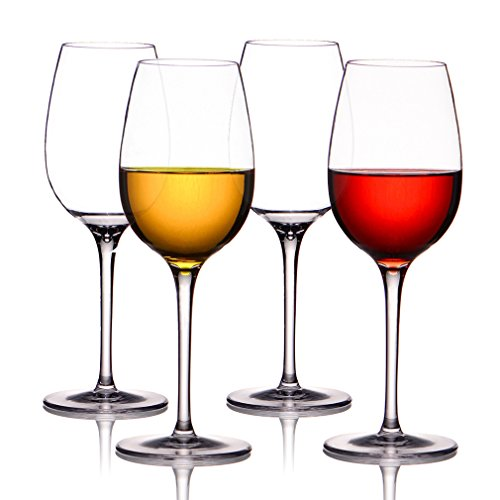 MICHLEY Unbreakable Wine Glasses, 100% Tritan Plastic Shatterproof Wine Goblets, BPA-free, Dishwasher-safe 12.5 oz, Set of 4 (Wine Glass Dishwasher Safe compare prices)