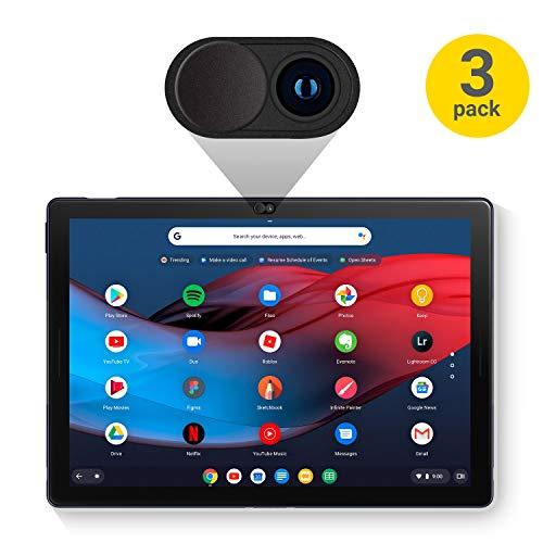 Case Slate Camera - Olixar Google Pixel Slate Camera Cover - Webcam Cover - Privacy Slide - Compatible Laptop, Tablets & Smartphones Anti Hack - 3 Pack