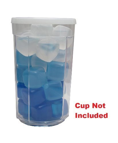 30 Pack of Blue3D(tm) Reusable Plastic Ice Cubes In Blue, White and Light BluePlastic Cubes Won't Dilute Drinks BPA FREE]()