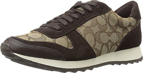 Coach Women's Mason Khaki/Chestnut (Coach Sneakers)