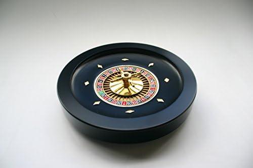 Holz Roulette Kessel, schwarz, 36cm