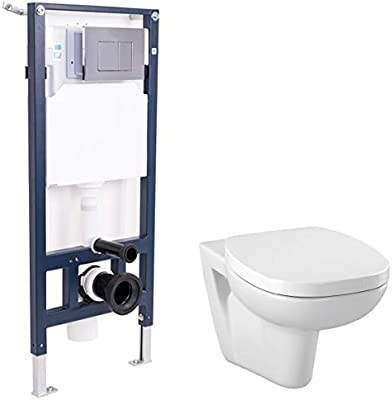 Aquariss Designer Bathroom Wall Mounted WC Toilet with Soft Close Seat