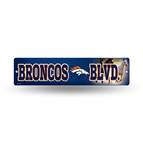 NFL Denver Broncos High-Res Plastic Street Sign