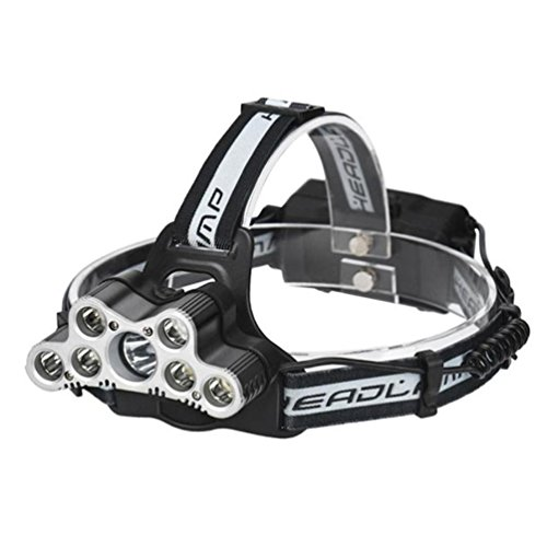 40000 LM 7X XM-L T6 LED Rechargeable Headlamp Headlight Travel Head Torch Hands Outdoor Free Flashlights+USB Line by Vovotrade