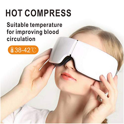 Electric Eye Massager with Heat, Air Compression, Bluetooth Music, Wireless Eye and Temple Massager for Relieving Dry Eyes, Eye Fatigue, Improving Blood Circulation and Sleep Quality