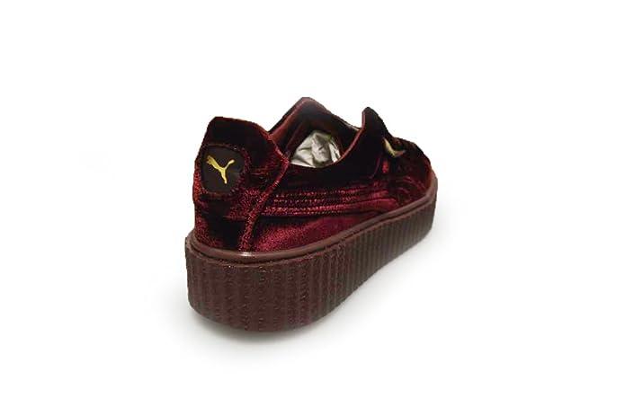 8f71164591b1 Puma Womens Creeper Velvet Burgandy by Rihanna  Amazon.co.uk  Shoes   Bags