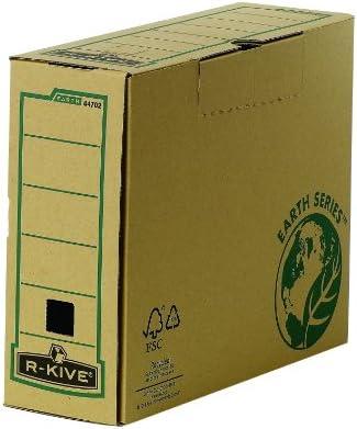 Bankers Box Earth Series - Caja de archivo definitivo, A4, lomo 100 mm, marrón, pack de 20 unidades: Amazon.es: Oficina y papelería
