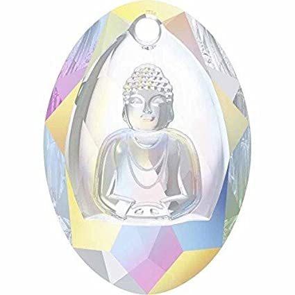 c6dc4be5c Image Unavailable. Image not available for. Color: 6871 Swarovski Pendant  Buddha | Crystal AB | 28mm ...