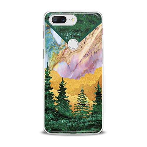 Lex Altern TPU Case for OnePlus 7 Pro 6T 6 2019 5T 5 2017 One+ 3 1+ Green Tree Cover Marble Clear Phone Beautiful Print Desert Protective Modern Design Girl -