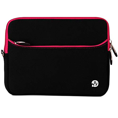(8 inch Tablets Neoprene Sleeve Cover Carrying Case Pouch for Apple iPad Mini, 2019, iPad Mini 4, Black,Magenta Trim)