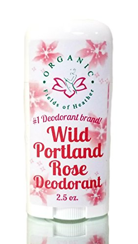 Organic Deodorant-Wild Portland Rose-Healthy All Natural Deodorant Detoxes with No Aluminum - Handcrafted in New Hampshire - Best Natural Women's Hypoallergenic Deodorant That Works
