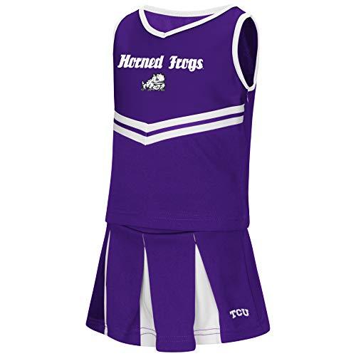 Colosseum NCAA Toddler-Girls Team Cheer Set-TCU-Horned
