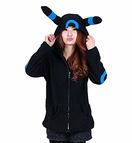 Ztl Unisex Cosplay Costumes Plush Animal Pajamas Onesie Hoodie Suits Jacket Eevee (Eevee Halloween)