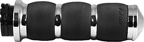 Avon Tyres Air Cushioned Grips Heated F-B-W Throttle (Chrome) ()