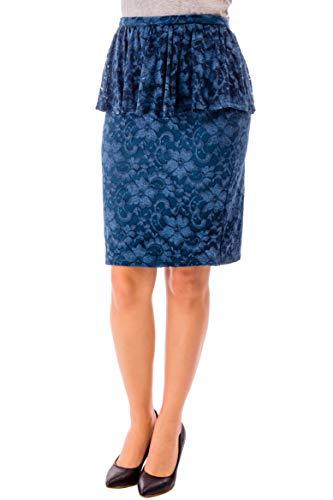 Para Cvb Azulado Mujer Falda Verde 5znR6q