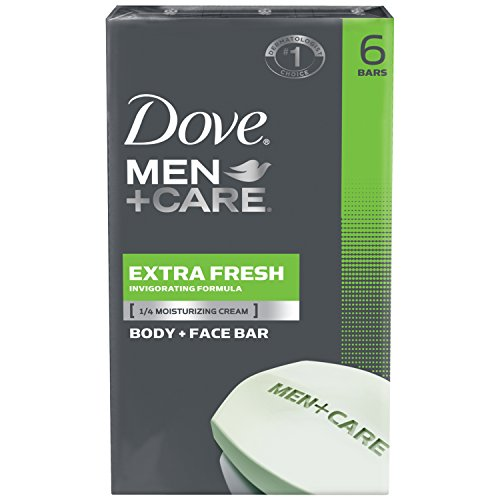 Fresh Deodorant Deodorant Bar Soap - Dove Men + Care Body and Face Bar, Extra Fresh, 6 bars