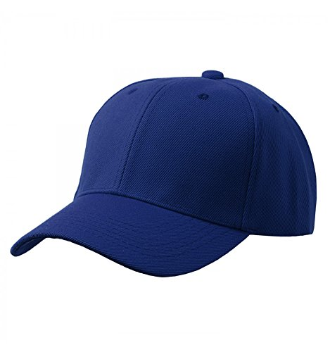 Baseball Plain Cap, Royal Blue, One (Blue Baseball Hat Cap)