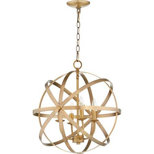 (Mill & Mason Seneca Aged Brass Four-Light Pendant)