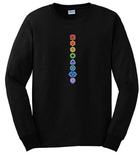 Chakra Long Sleeve T Shirt 3xl Black
