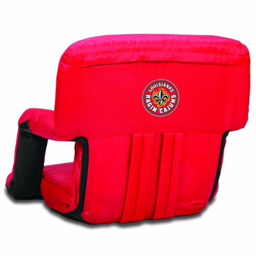 - PICNIC TIME NCAA Louisiana Lafayette Ragin Cajuns Ventura Portable Reclining Seat, Red