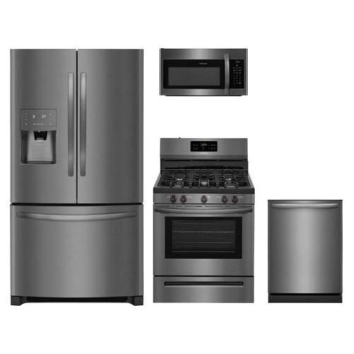 Amazon.com: Frigidaire 4-Piece Black Stainless Steel Kitchen ...