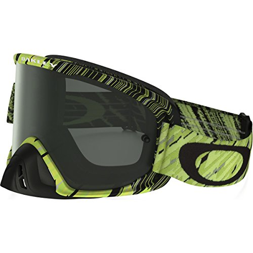 Oakley O2 MX Rain Of Terror Men's Dirt MotoX Motorcycle Goggles Eyewear - Green Yellow/Dark Grey/One Size Fits All