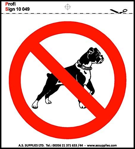 hiusan Health & Safety Signs Stickers Hazard Toilet CCTV WiFi Warning Caution 10Cm X 10 cm (No Dogs) from hiusan