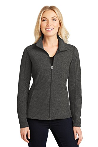 Womens Microfleece Full Zip Jacket - Port Authority Ladies Heather Microfleece Full-Zip Jacket-L235-4XL